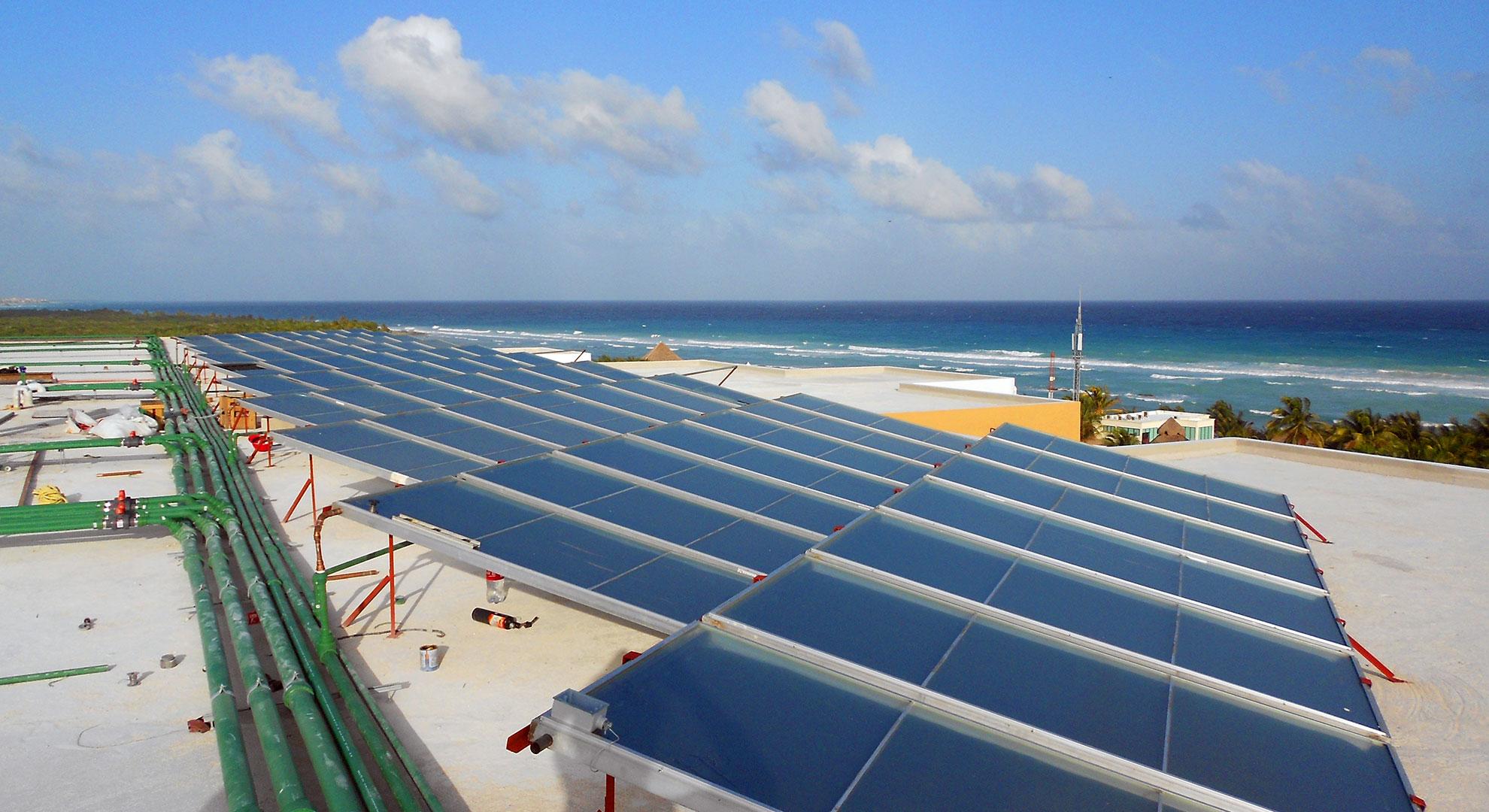 Instalación hotel sea side en Riviera Maya