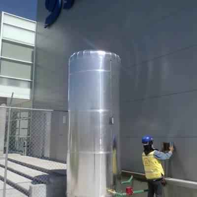 Instalación de calentadores solares industriales con termotanque de 5000 lts en fabrica